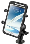 "2.5 Inch Round Base with Standard Sized Arm & RAM-HOL-UN10BU  Large X-Grip Phone Holder (Fits Device Width 1.75"" to 4.5"")"
