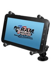 "2.5"" Dia. Base & Std. Sized Arm with RAM-HOL-UN8BU SMALL Universal Tablet Holder fits MOST 7-8"" Screens Tablets (Fits Device Width 2.5"" to 5.75"")"