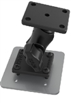 RAM Drill-Down Double Ball Mount with AMPS Plate, SHORT Sized Length Arm & Backing Plate