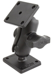 RAM Drill-Down Double Ball Mount with SHORT Sized Length Arm and Rectangle AMPS Plates