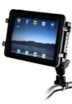 Handlebar Mount with Zinc U-Bolt (Fits .5 to 1.25 Dia.), Std. Sized Length Arm and RAM-234-6U Tough Tray II Holder for Apple iPad & Med. Sized Electronic Devices (Fits iPad with Case/Cover & Various Tablets, Netbooks)