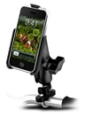 Handlebar Mount with Zinc U-Bolt (Fits .5 to 1.25 Dia.), Standard Sized Length Arm and RAM-HOL-AP3U Apple iPhone Holder (1st Gen WITHOUT Case or Cover)