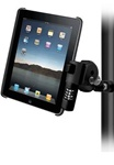 Handlebar Mount with Zinc U-Bolt (Fits .5 to 1.25 Dia.), Standard Sized Length LOCKING Arm and RAM-HOL-AP8LU LOCKING Holder for Apple iPad 3, iPad HD, iPad 2, iPad WITHOUT Case or Cover