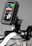 Handlebar Mount with Zinc U-Bolt (Fits .5 to 1.25 Dia.), Standard Sized Length Arm & RAM-HOL-AQ2U Medium Size WATERPROOF Holder