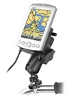 Handlebar Mount with Zinc U-Bolt (Fits .5 to 1.25 Dia.), Standard Sized Length Arm & Garmin RAM-HOL-GA11U Cradle Adapter