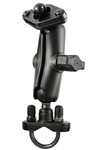 Handlebar Mount with Zinc U-Bolt (Fits .5 to 1.25 Dia.), Standard Sized Length Arm & Garmin RAM-HOL-GA22U Holder (Selected StreetPilot c500 and I Series)