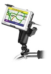 Handlebar Mount with Zinc U-Bolt (Fits .5 to 1.25 Dia.), Standard Sized Length Arm & Garmin RAM-HOL-GA23U Holder (Selected nuvi 600 Series)
