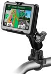 Handlebar Mount with Zinc U-Bolt (Fits .5 to 1.25 Dia.), Standard Sized Length Arm & Garmin RAM-HOL-GA25U Holder (Selected nuvi 200 WIDE & 465 Series)