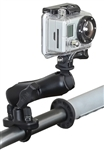 Handlebar Mount with Zinc U-Bolt (Fits .5 to 1.25 Dia.), STANDARD Sized Length Arm & RAP-B-202U-GOP1 GoPro Adapter Plate