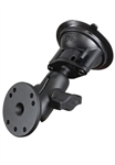 "Single 3.25"" Dia. Suction Cup Base with Twist Lock, Aluminum SHORT Length Sized Arm and 2.5"" Dia. Plate (Medium Duty)"