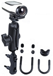 Brake/Clutch Assembly Mount or U-Bolt Handlebar Mount with Standard Sized Arm and RAM-B-202U-GA63 Garmin VIRB Camera Adapter