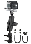 Brake/Clutch Assembly Mount or U-Bolt Handlebar Mount with Standard Sized Arm & RAP-B-202U-GOP1 GoPro Adapter Plate