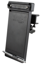 "U Clamp (Aviation Glare Shield) Fits Flat Edge 0.17"" to 1.12"" with Short Sized Arm & RAM-HOL-MP1U Multi-Pad Organizer"