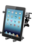 "U Clamp (Aviation Glare Shield) Fits Flat Edge 0.17"" to 1.12"" with SHORT Sized Arm & RAM-HOL-UN9U LARGE Universal Tablet Cradle fits MOST 10"" Screens WITH or WITHOUT Case/Cover/Skin Including: iPad Air, iPad 2, iPad 3, iPad 4, Asus EEE, XOOM, Galaxy 10.1"
