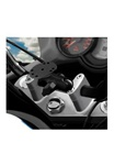 Motorcycle Top Clamp Mount with Short Sized Length Arm and Universal ROUND Plate