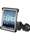 "Dual 3.25"" Dia. Suction Cup Base with Twist Lock, Aluminum Standard Length Sized Arm and RAM-HOL-TAB3U Universal Cradle for Tablets WITH or WITHOUT Case/Cover/Skin Including: Apple iPad 4, iPad 3, iPad HD, iPad 2, iPad, Google Nexus 10"