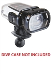 Garmin VIRB Dive Case Adapter with 1 Inch Diameter Rubber Ball (Connects to RAM 1 Inch Dia. Socket Arms)