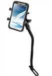 "Universal RAM 18"" Long Single Leg Mount with 1"" Socket and RAM-HOL-UN10BU  Large X-Grip Phone Holder (Fits Device Width 1.75"" to 4.5"")"