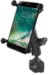 "RAM Torque Handlebar/Rail Base (Fits 3/4"" to 1"" Diameter) with 1"" Ball, Medium/Standard Sized Arm & RAM-HOL-UN10BU Universal X-Grip Holder for LARGER Phones (Max Width 4.5 inches)"