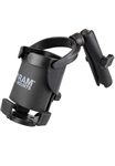 "RAM XL Self Leveling Cup Holder (Fits Beverages from 2.6"" to 3.5"" in Width & 3.75"" to 11"" in Height) with 1"" Dia ""B"" Sized Ball and LONG Sized Arm"