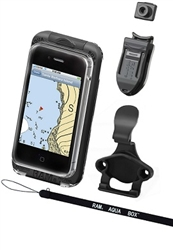 Aqua Box PRO 10 SMALL Smartphone Waterproof Holder WITH Laynard, Button, Belt Clip & Cradle (Fits Smartphones Up To 4.58''(H) X 2.46''(W) X 0.47''(D)