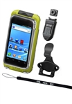 Aqua Box Pro 20 Large Smartphone Waterproof Holder WITH Laynard, Button, Belt Clip & Cradle (Fits Smartphones Up To 5.38''(H) X 2.8''(W) X 0.55''(D)