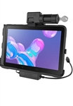 RAM EZ-Roll'r Power + Data Key-Locking Cradle for Samsung Tab Active Pro