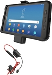 RAM EZ-Roll'r Powered Cradle for Samsung Tab Active2 with Charger