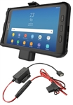 RAM EZ-Roll'r Powered Cradle for Samsung Galaxy Tab Active2 WITH Charger