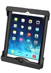 "Universal Tab-Tite Holder for Apple iPad Air, Air 2 (Fits WITH Thin Case/Cover) and Tablets within the Following Dimensions: Height 9"" to 11"", Max Width 7.43"", Depth to .87"""