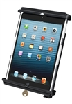 "RAM Universal Tab-Tite LOCKING Holder for Apple iPad mini (Fits with Thin Case/Cover) and Tablets within the Following Dimensions: Height 6.55"" to 9.8"", Max Width 5.68"", Depth .125 to 1.0"" Max"