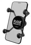 "Universal X Grip Spring Loaded Holder with 1"" B-Sized Ball (Fits Medium Sized Smartphones with Device Width from 1.875"" to 3.25"")"