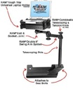 Dodge Ram 1500 (2002-2007) and 2500, 3500 (2003-2007) Laptop Mount System