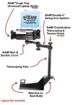 Ford: F-250, F-350, F-450, F-550, F-650 & F-750 Super Duty (1999-2010) Laptop Mount System