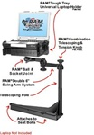 Sears Seating Atlas Series Seats (2005-2011) Laptop Mount System