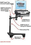 Hummer H3 (2006-2010) Laptop Mount System