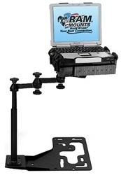 "Freightliner, International, Kenworth, Mack, Peterbilt and Volvo Commercial Laptop Mount System (18"" Swing Arm Extension)"