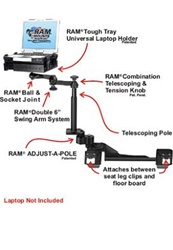 RAM-VB-182-SW1 RAM Laptop Mount for Chevy Impala Police Package