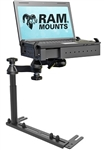REVERSE CONFIGURATION (Tele-Pole Far Right Side) Universal No-Drill Laptop Mount System