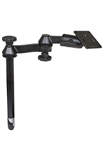 12 Inch Male Tele-Pole with Articulating Arm and RAM-2461U (75mm x 75mm VESA Plate)