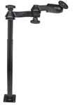 "12 Inch Male and 18 Inch Female Tele-Pole with Articulating Arm and RAM-202U (2.5"" Dia. Plate)"