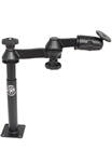 "8 Inch Male and 9 Inch Female Tele-Pole with Articulating Swing Arm with RAM-202U (2.5"" Dia. Plate)"
