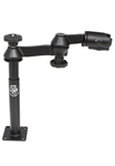 8 Inch Male Upper Tele-Pole with Articulating Swing Arm (No Adapter Plate)