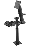 9 Inch Lower Tele-Pole, 8 Inch Upper Tele-Pole with Flange, Articulating Single Swing Arm and VESA Plate Mount
