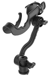 "RAM-ROD 2000 Fishing Rod Holder with Extension Arm & RAM Track-Node Base (T-Bolt Dimensions: .48"" x .95"")"