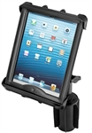 "RAM-A-Can Cup Holder Mount with RAM-HOL-TAB8U Universal Cradle for 10"" Screen Tablets WITH or WITHOUT Large Heavy Duty Case/Cover/Skin Including: Apple iPads"
