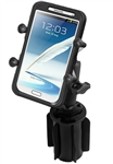 "RAM-A-Can Cup Holder Mount with RAM-HOL-UN10BU Large X-Grip Phone Holder (Fits Device Width 1.75"" to 4.5"")"