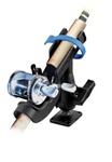 RAM-ROD 2007 Fishing Rod Holder with Rectangle Flat Surface Base