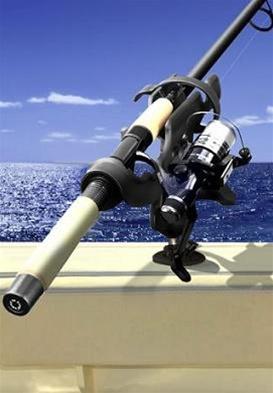 RAM RAP-340 Fishing Rod Flat Surface Mount Base Holder for Fresh or Saltwater