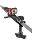 "RAM-TUBE Jr. Fishing Rod Holder with 6"" Spline Post and Dual T-Bolt Track Base (T-Bolt Dimensions: .48"" x .95"")"
